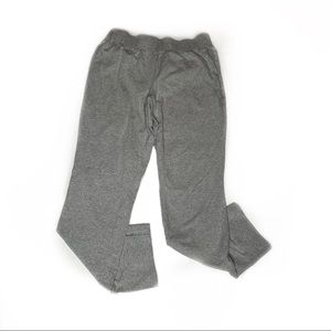 Eileen Fisher Grey Scrunch Waist Slit Ankle Pants